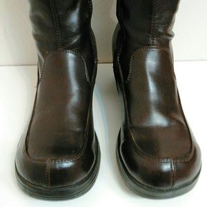 SkechersTall Boots Lace Up Back Gold Stars Size 6